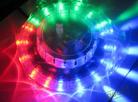 Wholesale 20piece W V Micro Rotating Voice Activated RGB Light LEDs Sunflower lamps Voice control LED Stage Light dandys