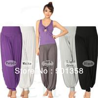 Cheap Women women yoga wear Best Bamboo Fiber Pants dance wear pants