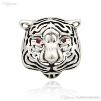 China-Miao antique wedding rings for sale - Hot Sale New Design Vintage Tiger Head Rings For Men Antique Silver Animal Rings for Women Punk Band Rings
