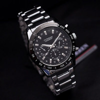 Casual imports - Men Business Quartz Watch with Steel Band Imported Movement Waist Watch KJ397