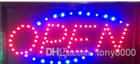 Disco open sign - Animated Motion LED Business Vertical Open SIGN On Off Switch Bright Light Neon