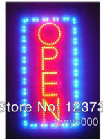 Red led neon open sign - Animated Motion Running LED Business OPEN SIGN On Off Switch Bright Light Neon
