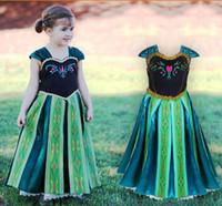 Cheap Frozen Anna costume princess dress Xmas costume summer frozen dress kids girls Dress skirt vestido elsa frozen dresses A001