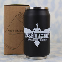 Wholesale High quality stainless steel anime Water Bottles LOL kettle cartoon kettles Holiday gifts ml