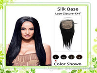 Brazilian Hair Natural Color Straight virgin brazilian straight silk base closure 3.5X4 free part 10-20inchsilk base top closure