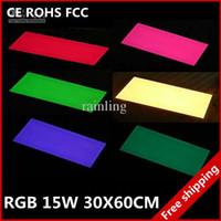 Wholesale 30x60cm RGB full color W led panel light super thin ceiling lamp energy saving by DHL FEDEX