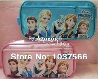 Backpacks Denim Men Hot sale2014 Frozen princess Elsa anna Pencil case Bag Red NEW Children Girl's Cartoon Fashion Pencil Bag Free Shipping