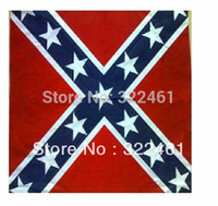Wholesale 100 cotton confederate rebel flag bandanas flag print bandana headband for adult bandanas ps