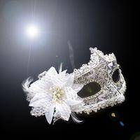 horror masks - Party Masks Halloween Mask Slioknot Venetian Princess Lace Mascaras Masquerade Half Full Face Head Mask Horror Mask