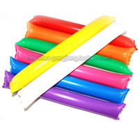 Wholesale 100pcs Inflatable Balloon Stick with Straw Cheering Stick Tap Tap Stick Party Props for Sports Fans Concert