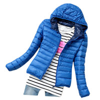 winter coat - S5Q Women Candy Color Slim Down Coat Lady Winter Warm Thin Parka Jacket Overcoat AAADWB