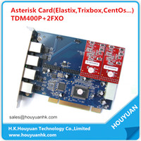 Wholesale TDM400P FXO PCI Card ax400p Digium Card with FXO or FXS Voice Card support Elastix Ubuntu Asterisk Trixbox Freeiris