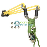 Wholesale Tirachinas Potente Acero Inoxidable Slingshot With Compass Pro de Caza y Pesca