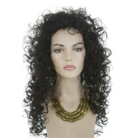 Cheap Natural Color synthetic wigs Best Curly 24 washing synthetic wigs