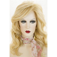 Gold Deep Wave 24 Cheap Wigs Online Gold Fashion Deep Wave Synthetic Wig Long Quality Vogue Hair Wig 058