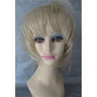 Blonde Loose Wave 12 Woman Short Wig Fashion Loose Wave Synthetic Hair Wigs Cheap Price Blonde Color Fast Shipping 064