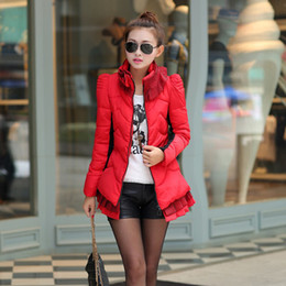 Wholesale winter women coat brand fashion jacket luxury raccoon fur collar overcoat warm thicken down cotton slim