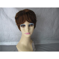 Cheap Medium Brown discount synthetic wigs Best Curly 8 lhair synthetic