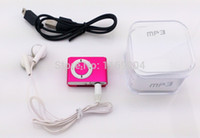 Wholesale MINI clip MP3 Player with Micro TF SD card Slot with mini MP3 no earphone no usb only mp3