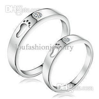 Wholesale Engagement Wedding Rings Silver Couples Ring Best Gift For Lover double finger rings Of Men And Women