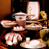 Wholesale Vatican Kasha grade bone china tableware suits Continental porcelain plates ceramic bowls dishes Genuine