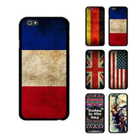 Plastic uk flag - S5Q US UK DE FR Flag Retro Case Quote Dreamcatcher Cover Protector For iPhone AAADVP