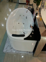 Wholesale Sea freight whirlpool bathtub and acrylic ABS composite board massage tub W4017