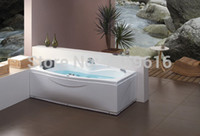 Wholesale CUPC certificate Sea freight whirlpool bathtub and acrylic ABS composite board popular Rectanguar massage tub W4009