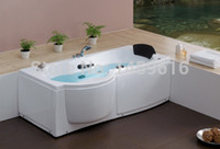 Wholesale CUPC certificate Sea freight right skirt whirlpool bathtub and acrylic ABS composite board popular rectangular massage tub W4005