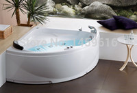 bathtub whirlpools - CUPC certificate Sea freight left wall corner whirlpool bathtub and acrylic ABS composite board wall corner popular massage tub W4012