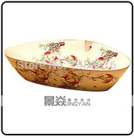 Wholesale Round Bathroom Cloakroom Ceramic Counter Top Wash Basin Sink Washing basins