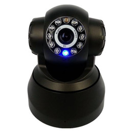 Wholesale New P2P Plug and Play wifi Wireless IPCamera network cam Mobile View Free Iphone Android App Software Pan Tilt Audio