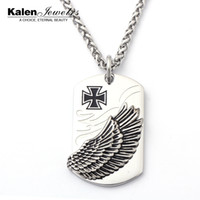 Wholesale JX TGD0276 Stainless Steel Eagle Pendant Necklace Biker Jewellery Mens Fashion Jewelry Exaggerated Pendant