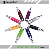 Cheap 2014 New Kanger Evod 2 Atomizer eGo Bottom Dual Coil Tank Clearomizer Original Kanger Electronic Cigarette Atomizer With Huge Vapor