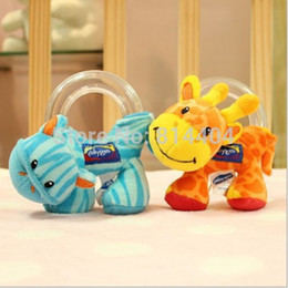 Wholesale Baby Boys Girls Infant Hand Rattle Beads Animal Soft Plush Doll Educational Toy