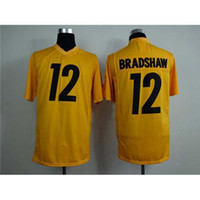Cheap 2014 New #12 Terry Bradshaw Yellow Game Day American Football Jerseys All Teams Jersey Name Number Sewn On Top Selling Mens Football Shirts