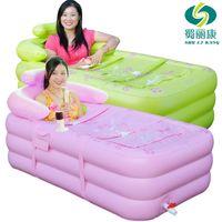 Wholesale Inflatable bathtub thickening adult bathtub bath bucket plastic folding tub bathtub bath bucket bath bucket