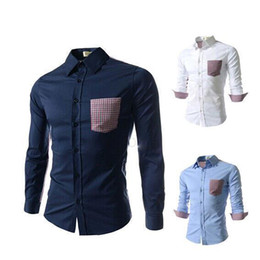 Wholesale Men s Shirt Plaid Brand Checker Men Clothing Long Sleeve Top Quality Big Size On Sale