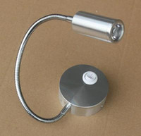 Wholesale LED Silver black Bedside Lamp Reading Wall Lamps W Plumbing Trap Background Mirror Light With Switch LED Wall Light