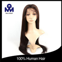 Wholesale Glamorous Remy Full Lace Wigs Brazilian Human Hair Wigs For Straight Virgin Silk Top Full Lace Wig C2105