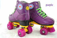 Wholesale Four Wheel Patins Original Profissional Full leather Skating Shoes Rodas Women s Inline Skates Men Adult Roller Skate