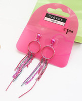 gegrge - Recommended European and American original single GEGRGE colored metal tassel earrings jewelry female models trade A9 kaihuang