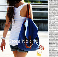 Wholesale FreeShipping Lady s Double Use Shoulder Bag Shoulder Belt Students Bags Casual Canvas Backpack DropShipping KB0022L