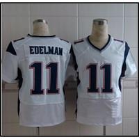 Cheap White #11 Julian Edelman Elite American Football Jerseys Cheap Football Shirts Brand Mix Order All Teams Players High Quality Football Kits