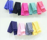 Wholesale Winter children s pants girls add wool trousers kids dot tights pants children leggings girls leggings size SM591
