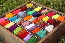 Wholesale 100pcs Art Silk Tassels Boho Jewelry Making Tassels DIY Craft Supplies mm mix colors
