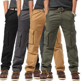 Wholesale XXK518 Tactical Pants Military Camping Loose Men Pants Outdoor Hiking Trousers Camouflage Cargo Trousers