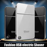 Electric Shavers - Black and white color optional men electric apple reciprocating ultra thin razor Razor USB electric Shaver
