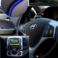 interior trim - Car Chromium Styling Strip Instrument Auto Body Chrome Trim Stripe Interior Exterior Accessories Colors