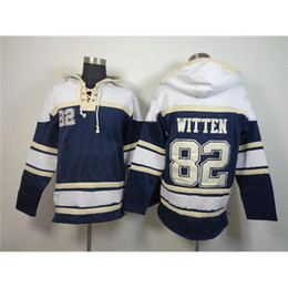 Wholesale Cowboys Jason Witten Blue Pullover Hoodie New Season American Football Team Jersey Hooded Sweatshirts Autumn Winter Wear